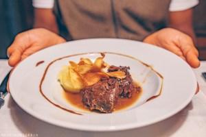 Main course Cal Sastre, restaurant in Santa Pau