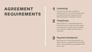 Licensing guidance for creatives