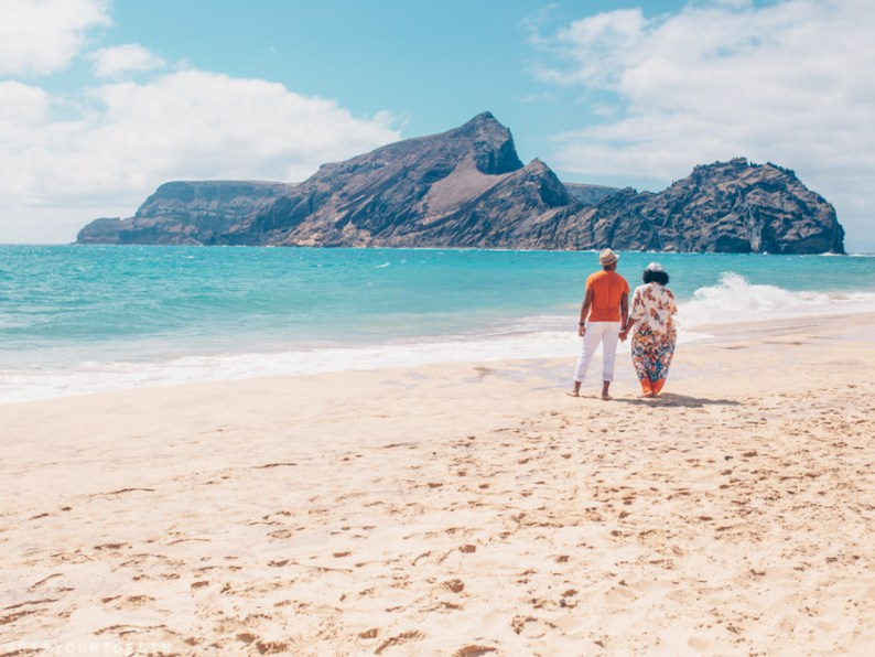 Couple on Porto Santo Beach