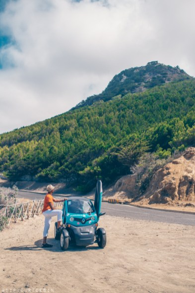 Day trip to north coast of Porto Santo in a Renault Twizzy