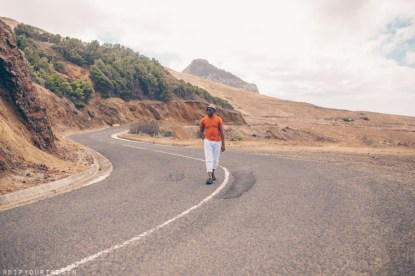Man walking in Porto Santo | Family holidays in Porto Santo