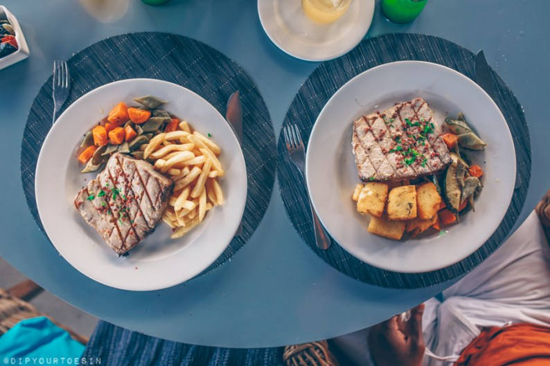 Tuna steak in Porto Santo | Family holidays in Porto Santo