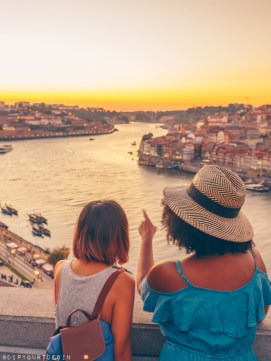 Viewing Sunset in Porto from the The Dom Luís I Bridge | Visit Portugal in One Week