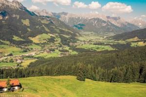 View of mountain from gondola Asitz Mountain, Leogang, Austria