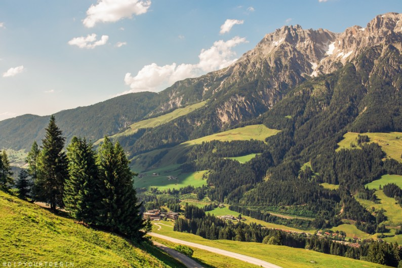 Mountains in Leogang, Austria