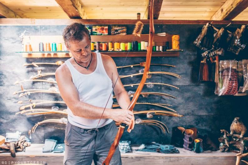 Kurt Schossleitner in Schosi 3D shop, Leogang Austria