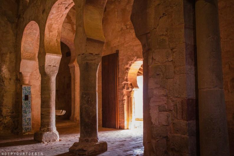 Walking inside the Monasterio de San Millán de Suso | La Rioja | Spain