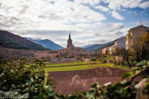 View across farmland outside the Monasterio de San Millán de Yuso | Visit La Rioja