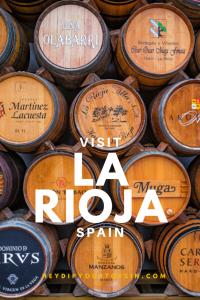 Image of wine barrels in Haro, La Rioja, Spain