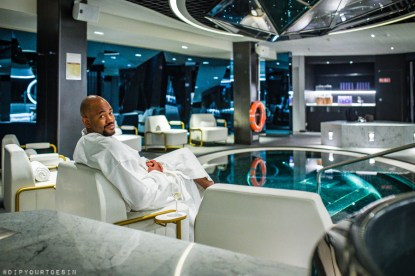 Pool area | Redemption Spa on Scarlet Lady by Virgin Voyages