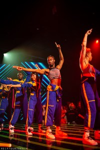 Dancers performing the Untitled Dance Show Party Thing on Scarlet Lady by Virgin Voyages | UDSPT
