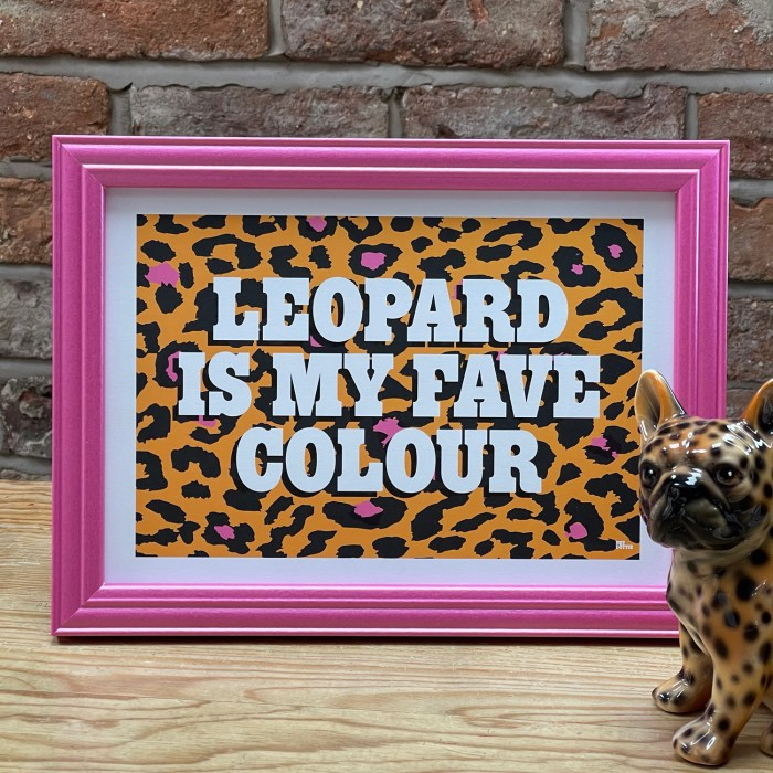 Leopard yellow A4
