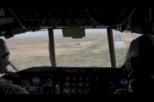 On short final into a FOB in Afghanistan.