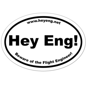 Hey eng sticker