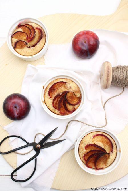 Grießküchlein mit Pflaumen Hey Foodsister Blog Rezept