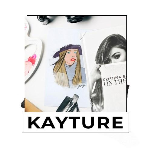 Illustration Fashion Blogger Kristina Bazan