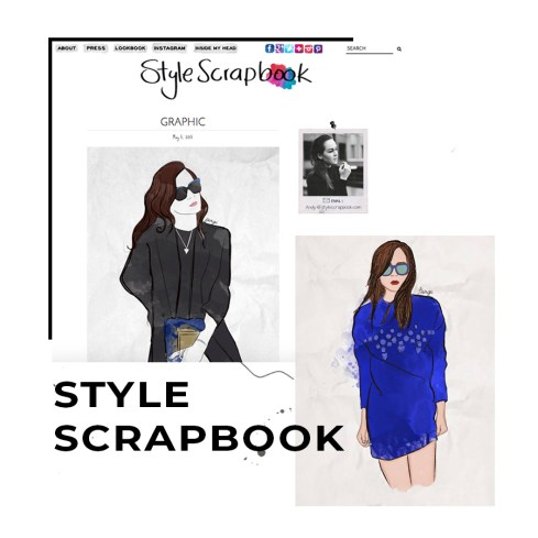 Illustrations featured on fashion blog SS by Andy Torres