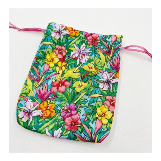 bright florals gift bag