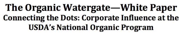 Organic Watergate