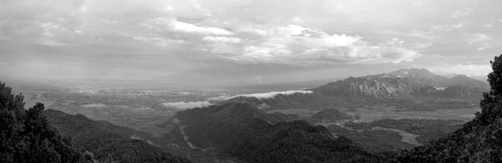 Banda Aceh, seen from the top of the mountain