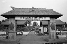 Welcome gate at Derawan Island
