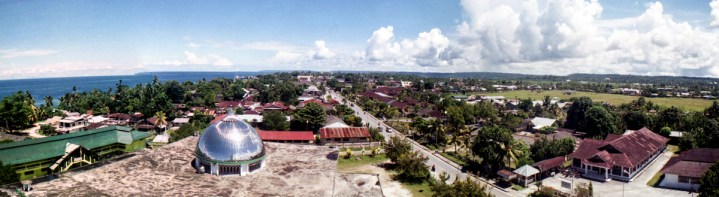 Panoramic view of Biak from the mosque's tower