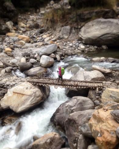 Wooden Bridge over Modi Khola river