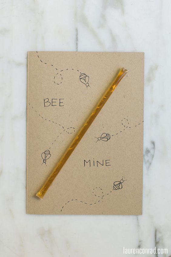 valentines day, dia dos namorados, cartão, amor, diy, abelha, mel, coração, formato de coração, ideias, artesanato, ideias fofas