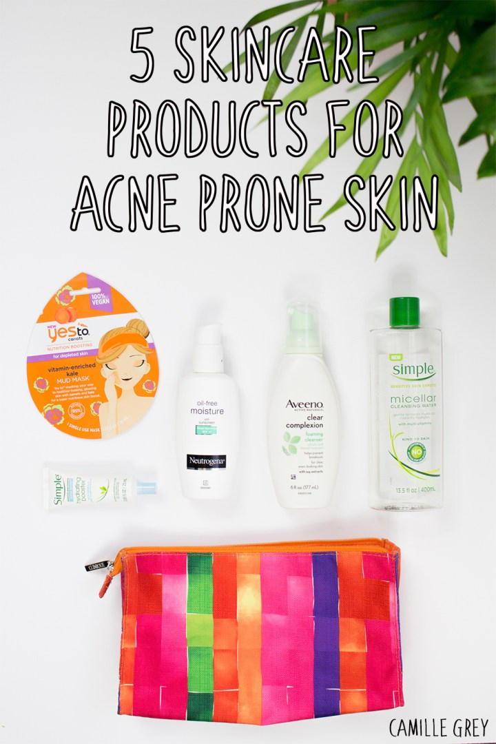 5 Skincare Products for Acne Prone Skin