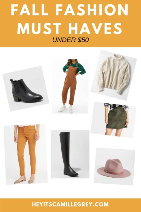 Fall Fashion Must Haves (under $50) | Hey It's Camille Grey