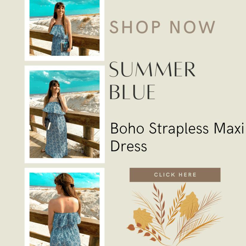 Boho Strapless Maxi