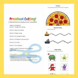 Image describing preschool cutting workbook