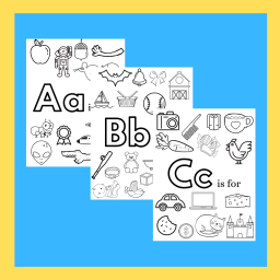 preview of alphabet coloring pages