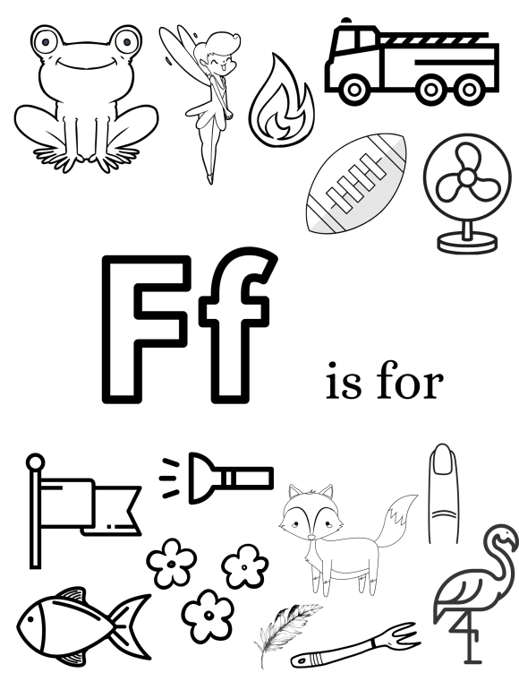 F is for images of show and tell ideas that start with letter F