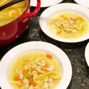 Homemade egg noodles