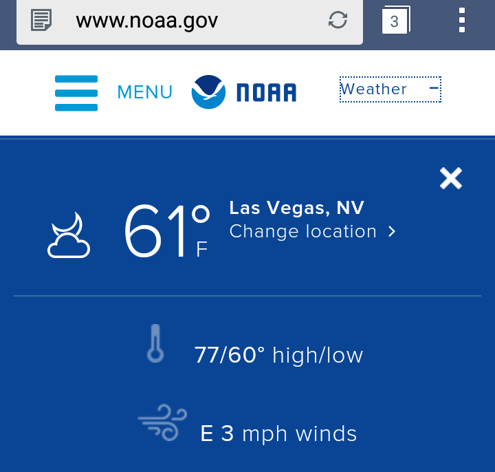 Warm Las Vegas