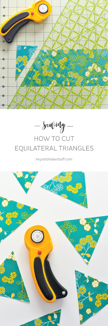 Having a hard time cutting equilateral triangles for your sewing projects? This method makes it simple! via @heyletsmakestuf