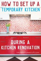 Set up a temporary kitchen and you'll find it much easier to survive a kitchen renovation. Here are tips and tricks for setting up a temporary kitchen in another room in your house.