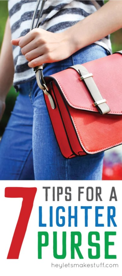 d57e05fca7b Seven Tips for Lighter Purse - Hey, Let's Make Stuff
