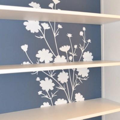 Updating the IKEA Hemnes Bookcase with Wallternatives
