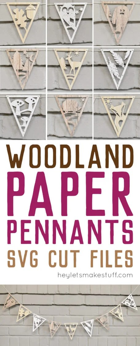 DIY paper banner with adorable woodland creatures pin image