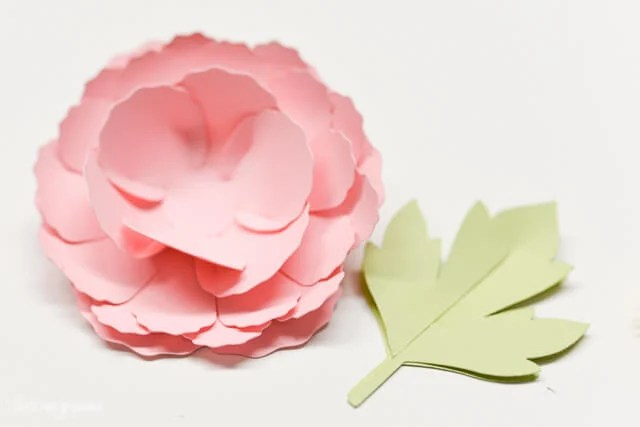 How to Assemble the Cricut Peony - Stacked Layers