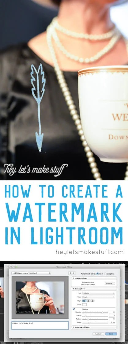 Here's how to create a watermark in Adobe Lightroom. Set it up once and it will watermark any photo you export!