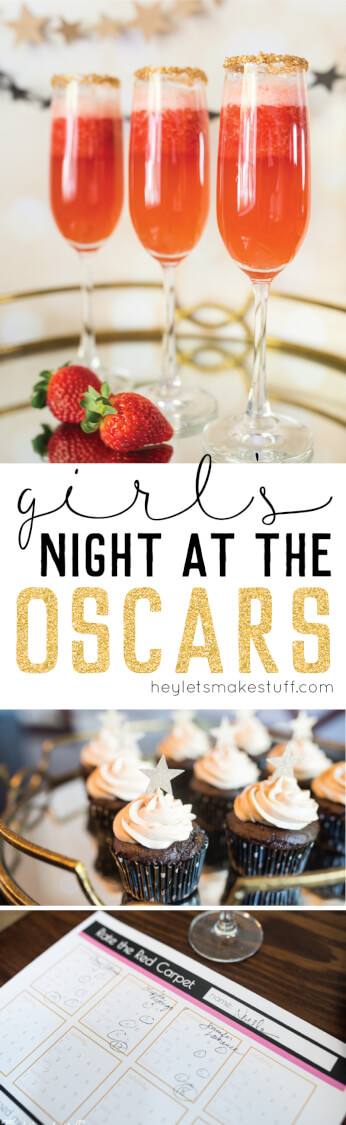 Girl's night at the Oscars party pin image