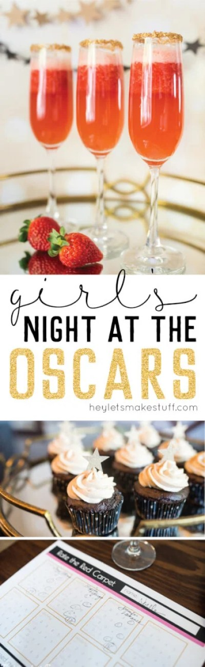 Throw a Girl's Night at the Oscars! This Oscars party is the perfect time to break out the champagne and chocolate with your best girlfriends. Get recipes, products, and games that are perfect for the Academy Awards!