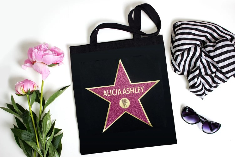This Hollywood Walk of Fame Swag Bag is the perfect party favor for an Oscar party! Fill with all sorts of fun goodies for your guests and make them feel like a star! Includes an updated tutorial for making your own personalized star in Cricut Design Space.