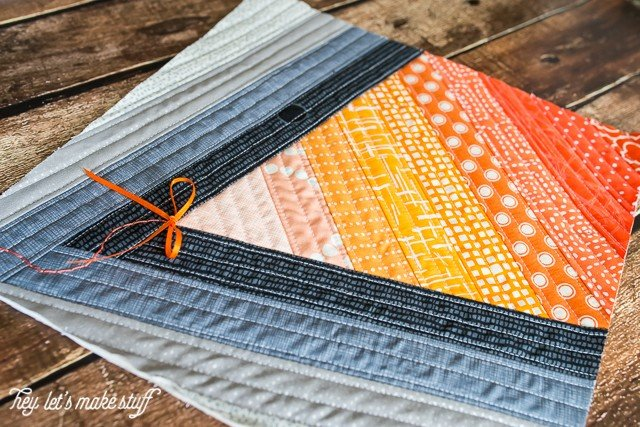Go Fly a Kite QAYG finished quilt block