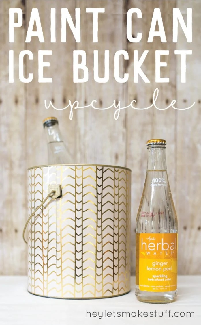 pin image DIY ice bucket from upcycled paint can
