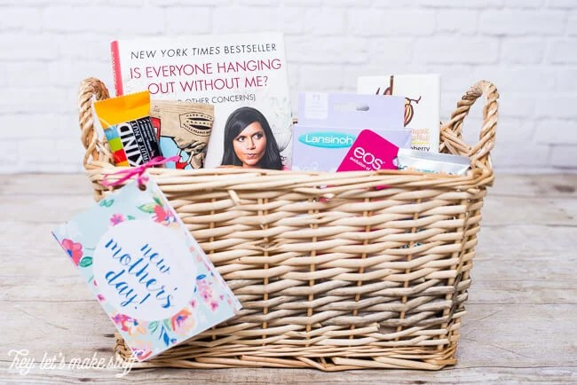 Know a mother who is celebrating her first Mother's Day? This gift basket is full of all sorts of goodies a new mom will love, and comes with a printable coupon book for the stuff mom's really want (house cleaning, meals, etc.)!