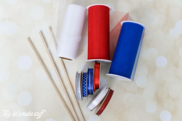 supplies needed for DIY patriotic streamers